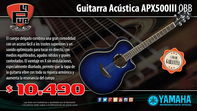 La Púa San Miguel: Guitarra Acústica YAMAHA APX500III OBB