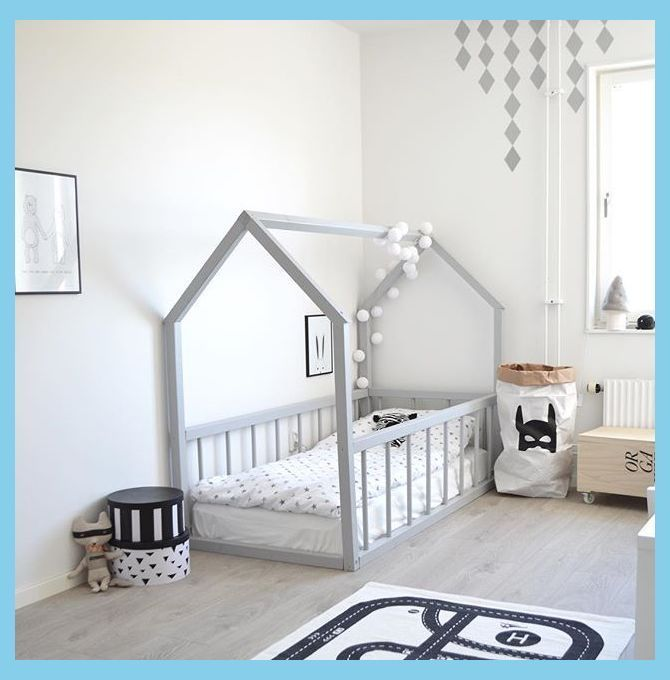 Big Kid Room Love The House Frame Bed In 2020 Diy Kids Bed House Frame Bed Diy Twin Bed
