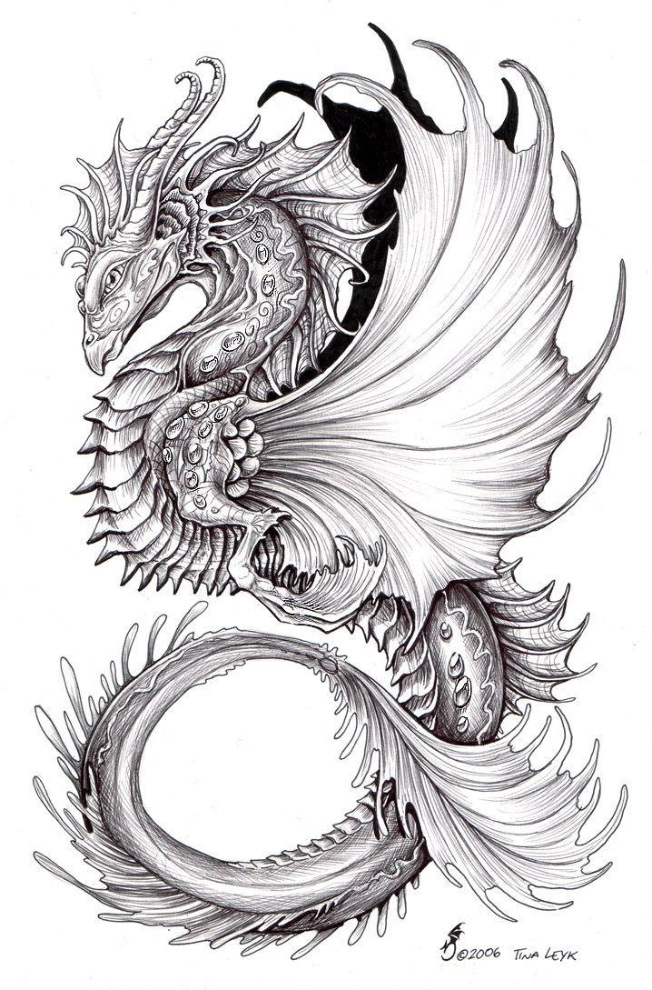 Картинки графика цветные драконы