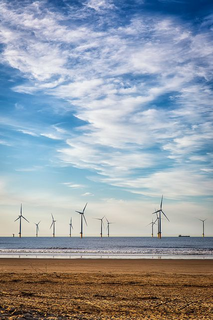 Teesside Offshore Wind Farm | compared to a nuclear, coal or oil fired power plant, I think I prefer this view