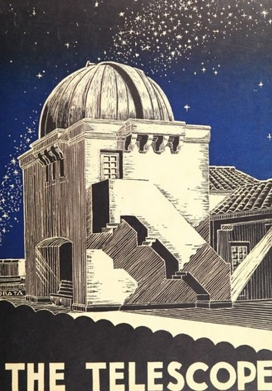 """The 1932 cover of """"The Telescope of Galieo""""  - """"Galileo"""" being Galileo High School in San Francisco, California.   #GalileoHighSchool #theTelescopeOfGalileo #yearbook #1932 #yearbookCover"""
