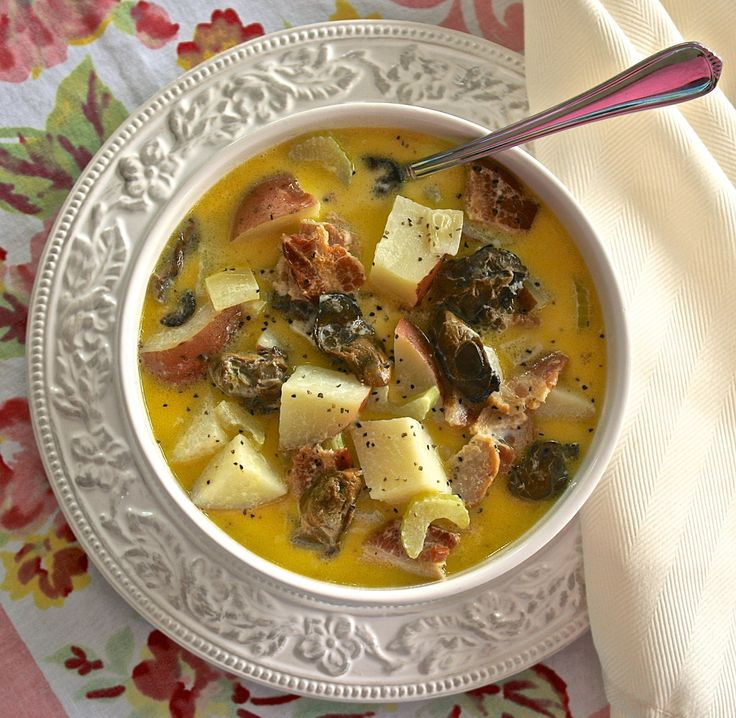 In Memory of Grandma Petite Smoked Oyster Stew with Red Potatoes, Bacon, Celery & Onions ~ from Wildflour's Cottage Kitchen