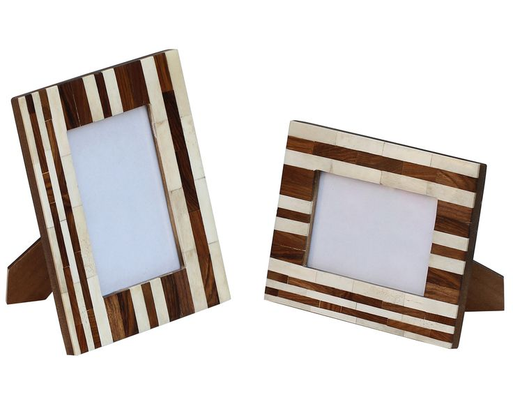 wholesale picture frame in bulk source wooden handmade photo stand with brown beige stripes homeofficetable and desktop decor accessory suppliers - Wholesale Photo Frames