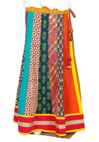 Multicolour Blockprinted Skirt design 5 – Desically Ethnic