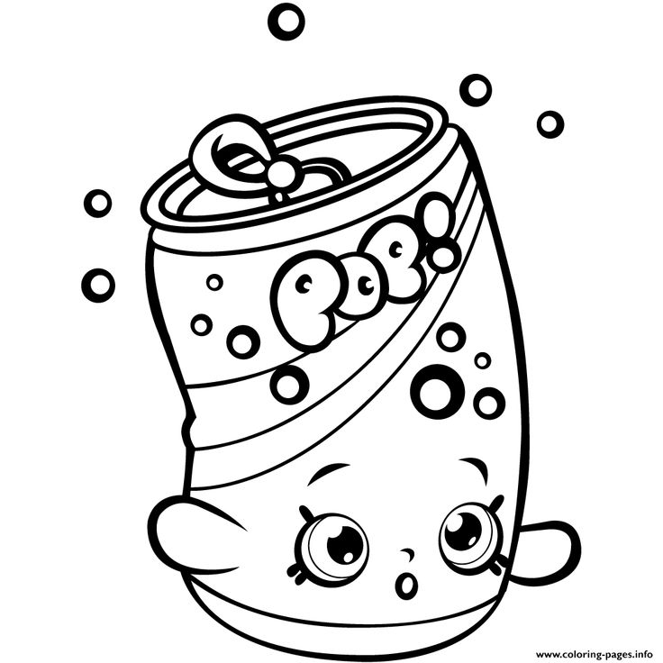 print soda pops shopkins season 1 for kids coloring pages - Coloring Printouts