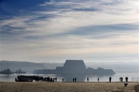 Largest destroyer built for the US Navy - first of the Zumwalt-class - headed to sea for testing