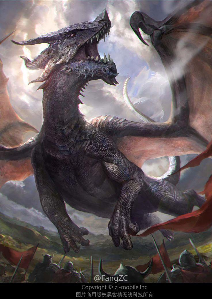 Фото драконов на открыток, гифы днем