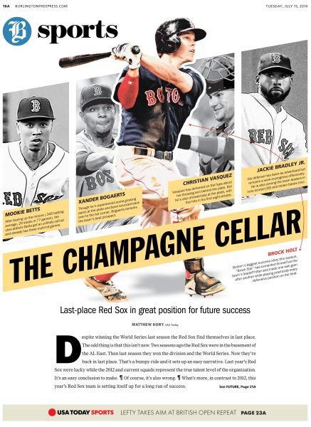 The champagne cellar Burlington Free Press. 15 July 2014 #Newspaper #Layout #GraphicDesign