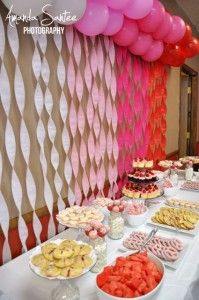 Red and pink baby shower
