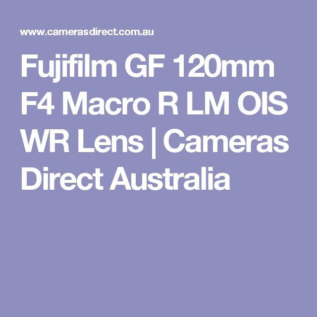 Fujifilm GF 120mm F4 Macro R LM OIS WR Lens | Cameras Direct Australia