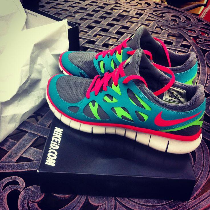 Nike free runs custom <3