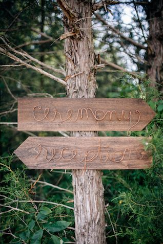 DIY copper wire and wood wedding signs | My Dear Love | see more on: http://burnettsboards.com/2014/10/wooded-floral-wedding-inspiration/