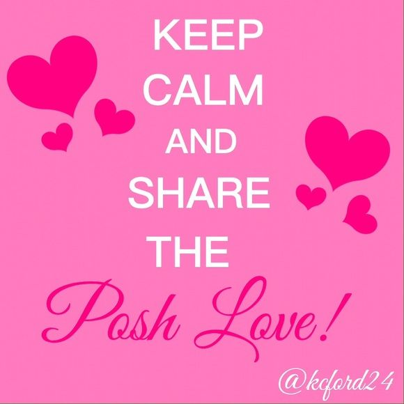 Posh Love is Sharing This is the month to show Love!! Posh love too!! Sharing is Posh Love!! Wishing you all a Happy Valentines Day! ✌️ Lovers + Friends Bags