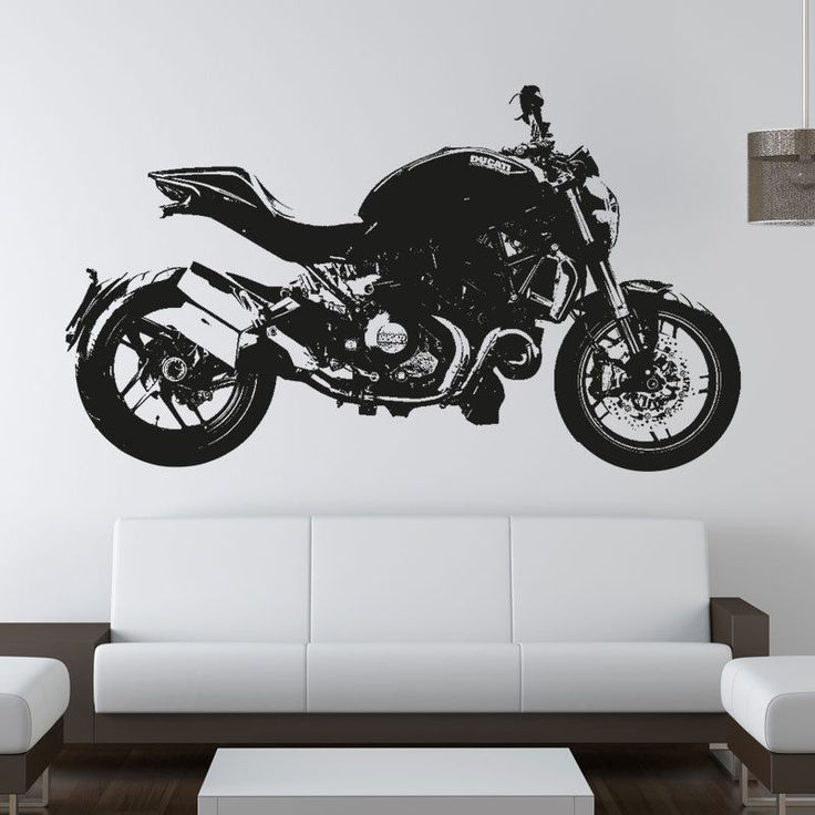 8 best motorbike and vehicle wall stickers art decals images on ducati monster 1200 moto gp racing motorbike vinyl sticker wall art decal mb5 gumiabroncs Choice Image