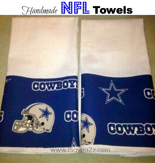 Handmade NFL Towels!!!  Oh YEAH!!  I can't believe how easy these are to make!