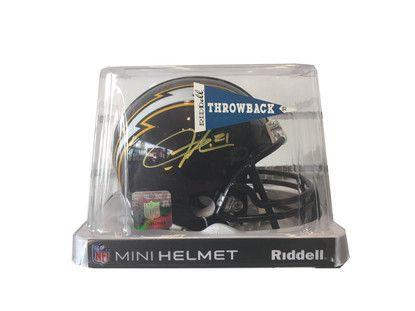 LaDainian Tomlinson Autographed Mini Helmet - San Diego Chargers - Navy