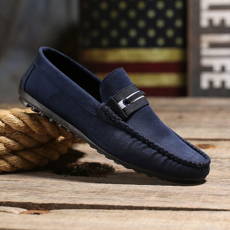 2016 nuevos hombres de la llegada Oxford Zapatos de conducción plana Simple  Slip…