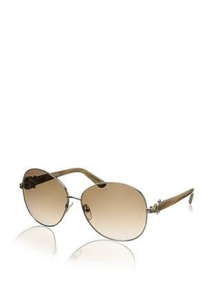 Salvatore Ferragamo Women's SF101S Sunglasses, Shiny Gold
