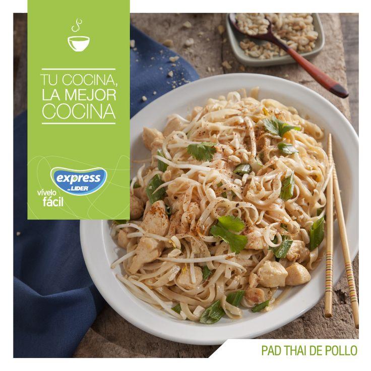 Pad Thai de pollo. #Recetario #Receta #RecetarioExpress #Lider #Food #Foodporn…