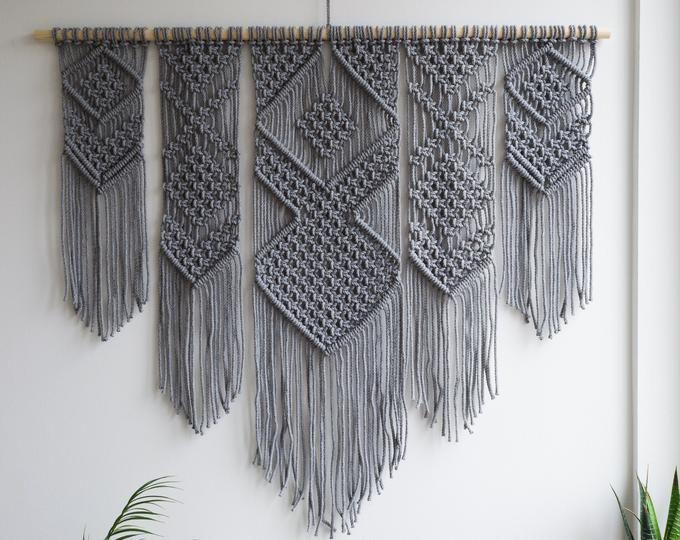 Macrame Kit Macrame Wall Hanging Kit Diy Gift Kit For Macrame Etsy Yarn Wall Hanging Hanging Wall Art Macrame Wall Art