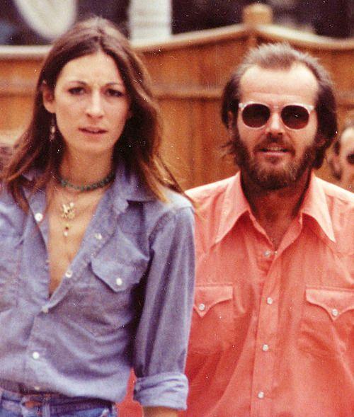 Anjelica Huston y el entonces su pareja, Jack Nicholson, en el Festival de cine de Telluride en 1975