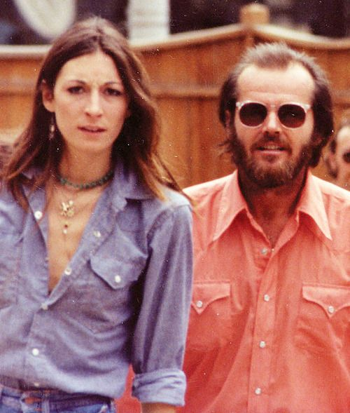 """Anjelica Huston and her then boyfriend, Jack Nicholson, at Telluride Film Festival in 1975, when the actor was lauded for """"being perfectly attuned to the mystic vibrations of a particular period."""""""