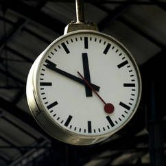 Train station clock, Mondaine, never late! Swiss trains wait for no one!)