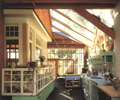 Gehry Kitchen (I don't like his houses, but this skylight over the kitchen is very nice)