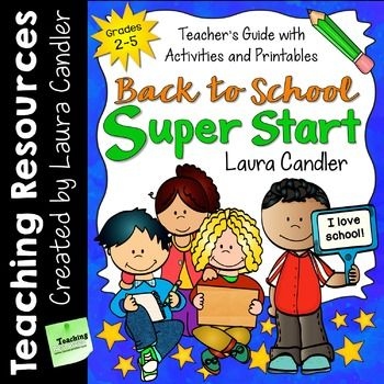 Back to School Super Start is all you need for a super start to the school year! The first week of school is the most critical week of the year, and it's important to get your class on the right track from the first day. Spending a little time upfront to create a caring classroom community will pay off later when it's time for your students to work together.