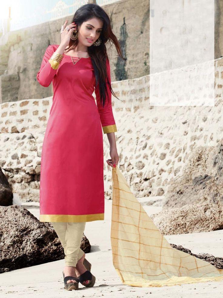 Leave the world speechless with your elegance. Item code: SLANB016R  Shop more: http://www.bharatplaza.com/women/salwar-kameez.html