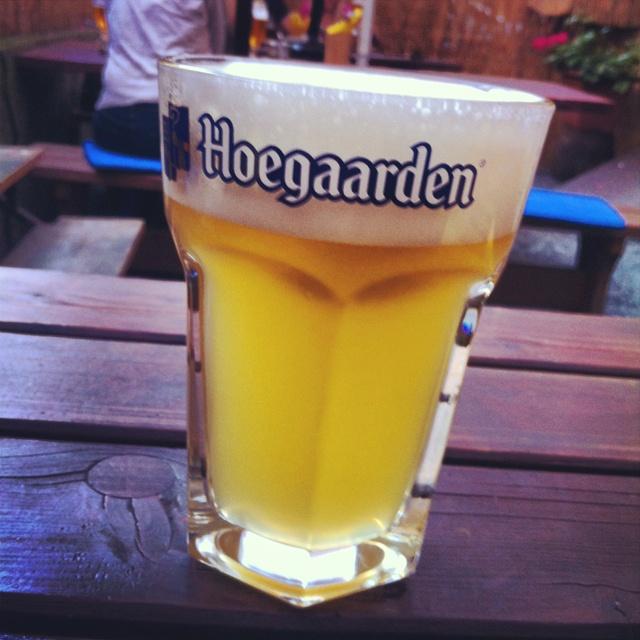 My favorite beer in summer. Hoegaarden in Male Divy restarant, Prague 7. So fresh!!)