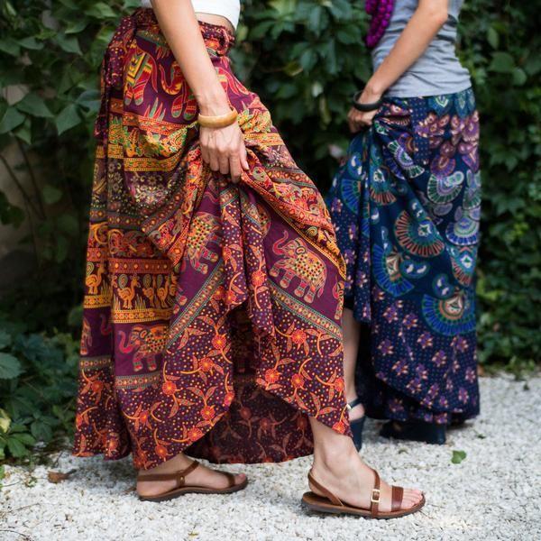 100% Cotton Wrap Around Skirt - Ankle Length