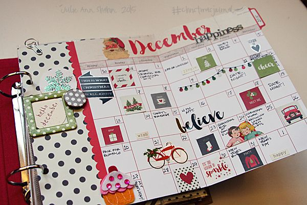 Day 4 2015 Fold-Out Monthly View (Folds in half to fit in planner) Awesome; Love this idea!
