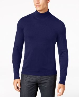 Alfani Men's Turtleneck, Created for Macy's - Blue 3XL