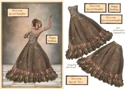 Birthday card with elegant young lady in evening dress on Craftsuprint - View Now!