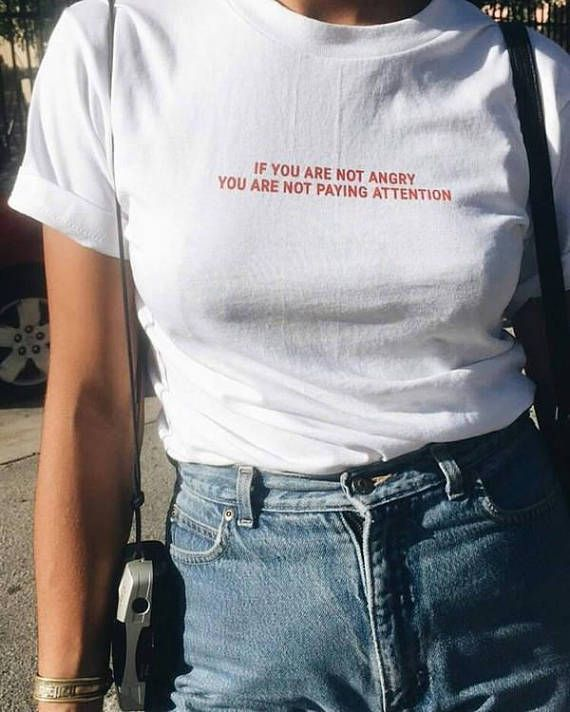 86facd8bb If you Are not Angry you are not paying Attention Shirt, Tumblr Tshirt,  hipster Clothes, grunge fashion, Instagram Outfit Funny tees