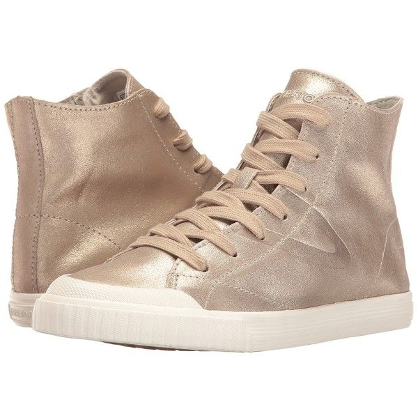 Tretorn Marley HI2 (Gold) Women's Lace up casual Shoes ($90) ❤ liked on Polyvore featuring shoes, sneakers, laced sneakers, gold high top sneakers, gold hi top sneakers, lace up sneakers and lace up high top sneakers