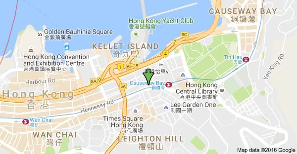 Mappa di: Radio City, 505-511 Hennessy Rd, East Point, Hong Kong