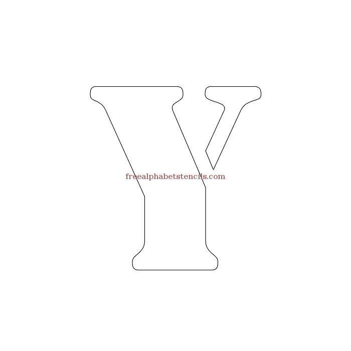 Uppercase Alphabet Stencil Y