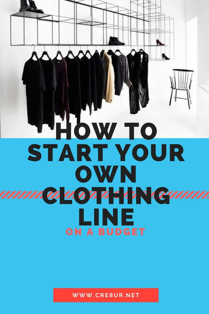 starting your own clothing company