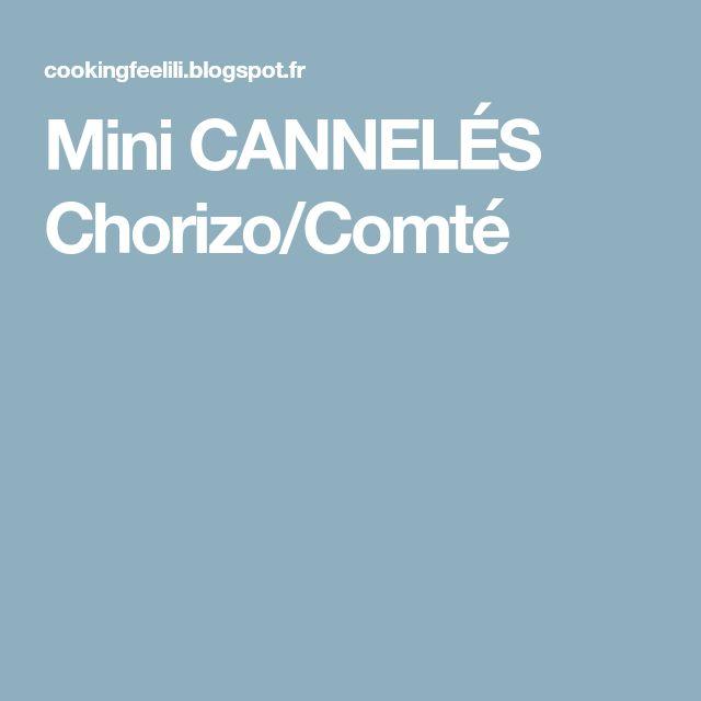 Mini CANNELÉS Chorizo/Comté