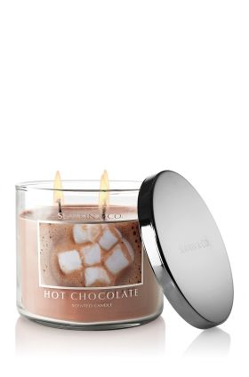 YUMMY! Hot Chocolate scented candle from Bath and Body Works!  This was Denver's favorite this Winter.