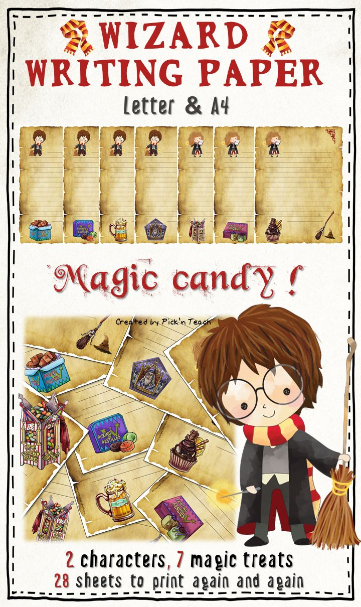 Magic candy ! Writing paper for Harry Potter fans 28