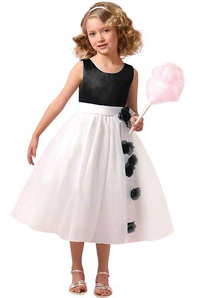 alfred angelo black and white flower girl dress