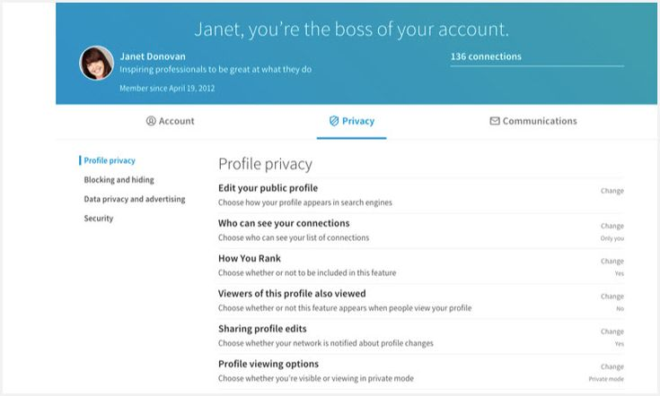 #Académico_y_profesional #linkedin LinkedIn facilita gestionar la configuración de nuestra cuenta