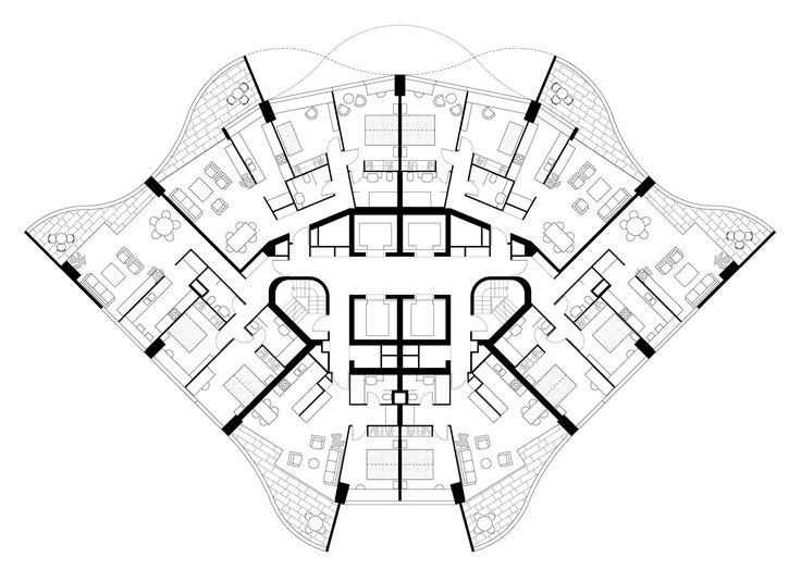 Penthouse Apartment Floor Plans Harry Seidler & Associates: Horizon Apartments   Sydney
