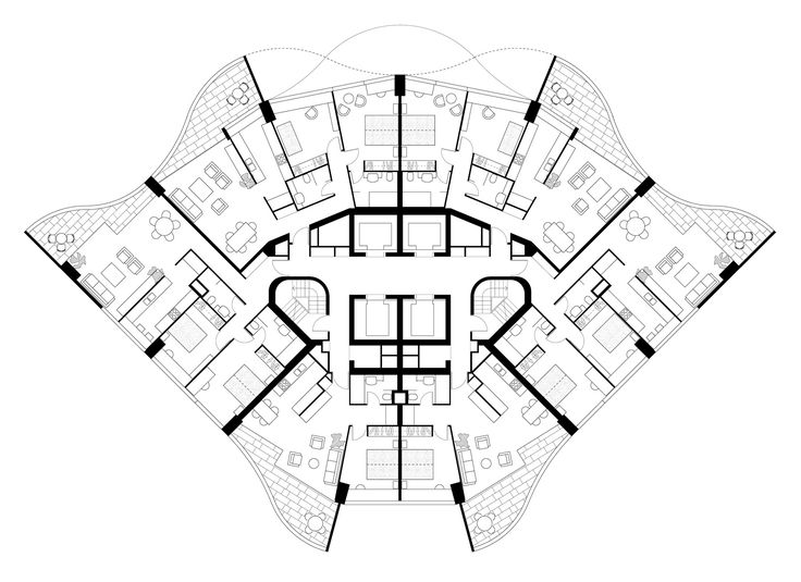 penthouse apartment floor plans harry seidler  u0026 associates