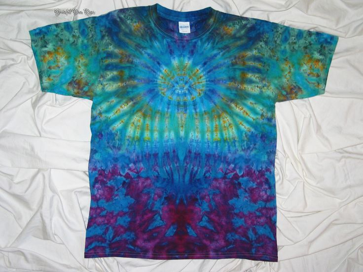 20% Off Black Friday Sale tye dye, xl youth tee, ice dye spider, tie dyed by grateful dan dyes, inkblot ice dye, funky dyes, kids tie dye - $16.00 USD
