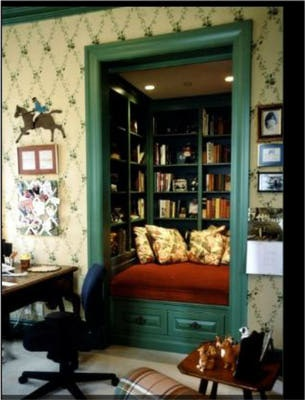 Transformed closet to book nook!  By Susan Jay Designs.