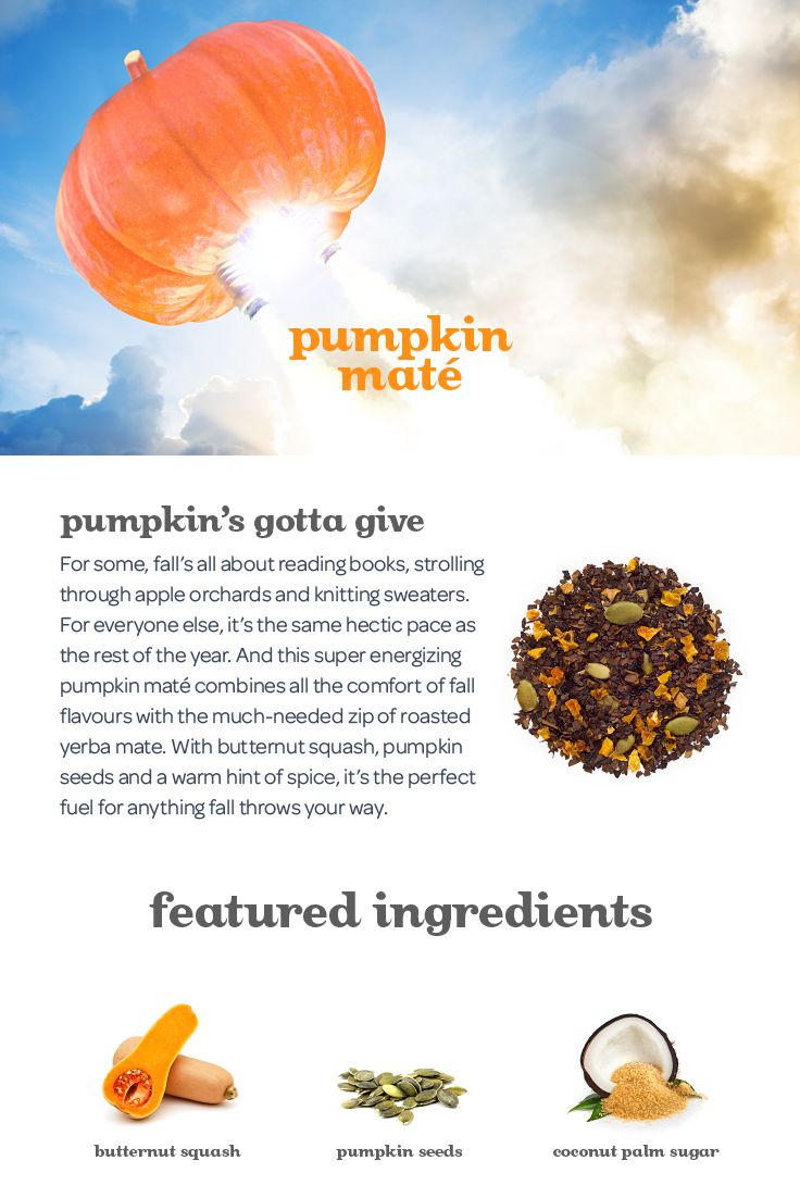 A super-energizing yerba mate with pumpkin and spice.